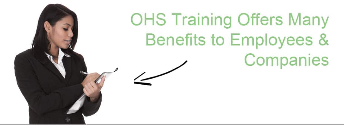 Benefits of OHS Training - Lady with Clipboard